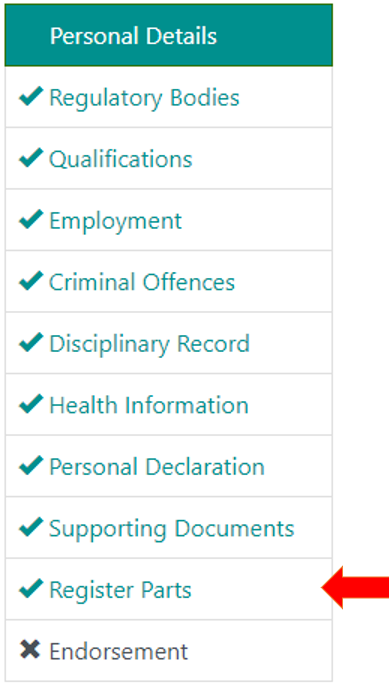 An image of the Personal details page where you can change your details